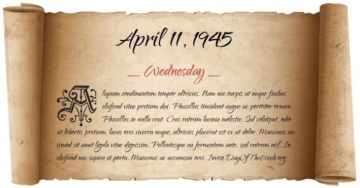Wednesday April 11, 1945