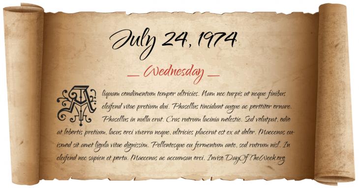 Wednesday July 24, 1974