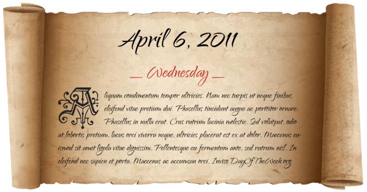 Wednesday April 6, 2011